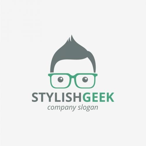 Stylish Geek Logo Template